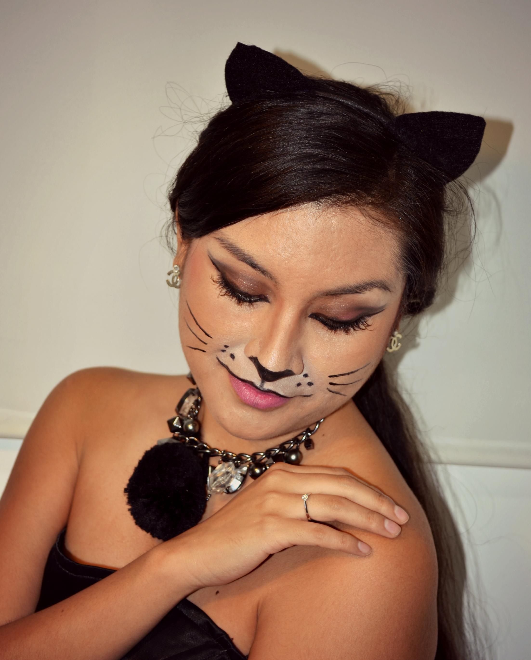 Cat Makeup for Halloween - Duapara Goddelijk