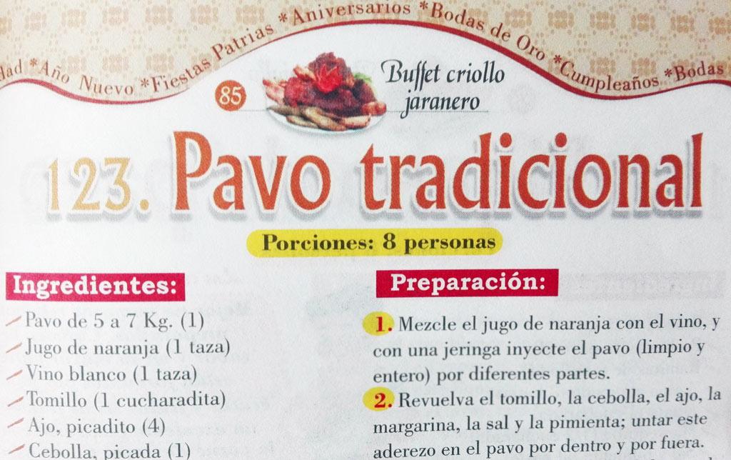 receta relleno de pavo al horno