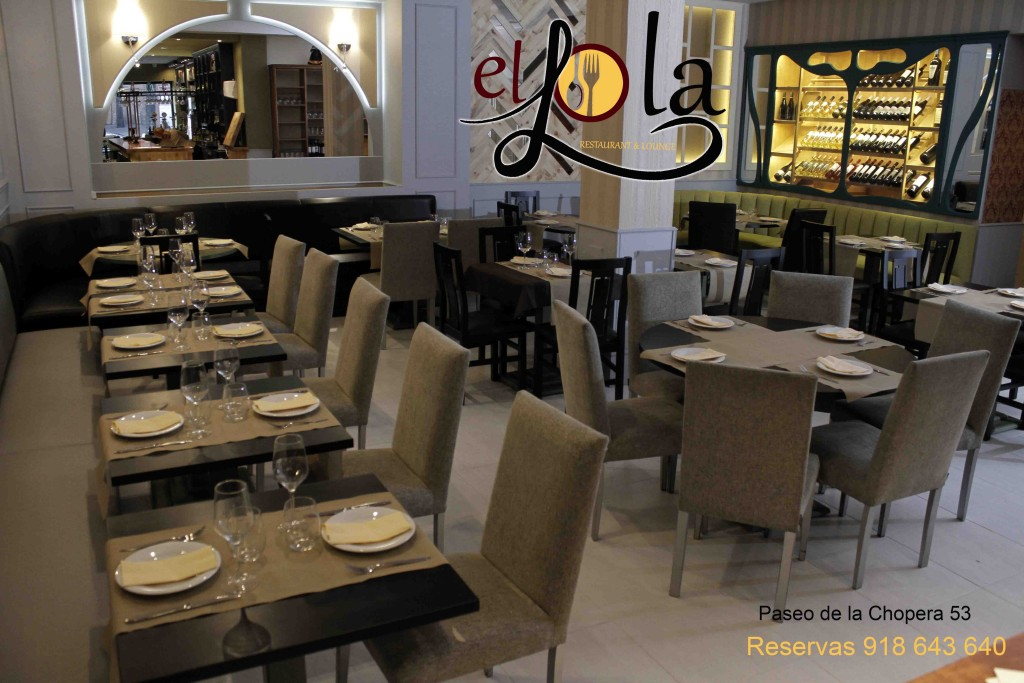 El lola restaurante lounge bar Madrid